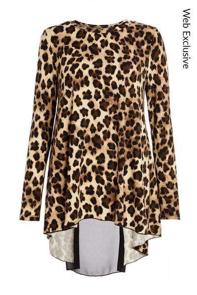 Brown Leopard Print Top